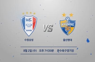 2017.08.02 K리그 클래식 24R 수원 vs 울산 하이라이트