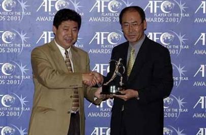 수원 삼성, 2001 AFC 올해의 클럽에 선정