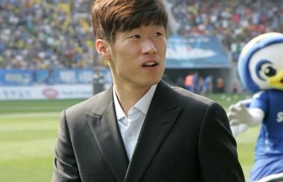 하프타임 박지성 선수의 사인볼 증정 5월 20일 vs 울산전