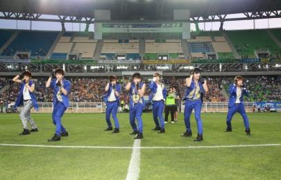 하프타임 인피니트 공연 6월 17일 vs 제주전