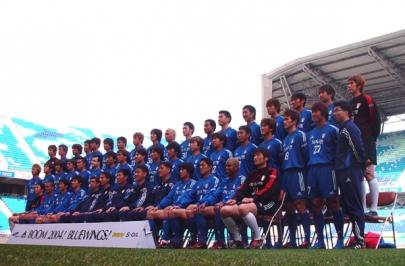 블루윙즈 선수단 2004 단체사진 촬영 마쳐